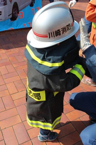 消防隊員の制服での撮影会
