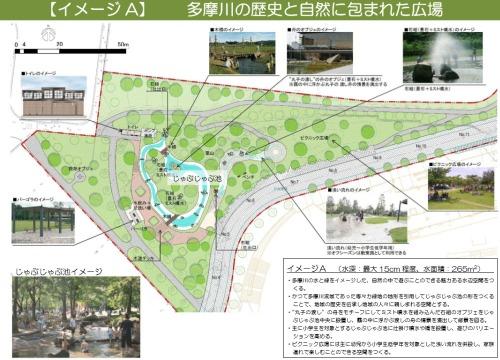 【イメージA】 多摩川の歴史と自然に包まれた広場
