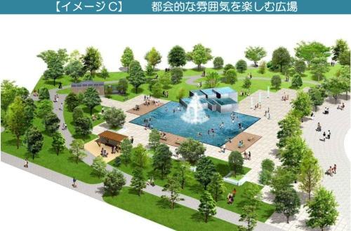 【イメージC】 都会的な雰囲気を楽しむ広場