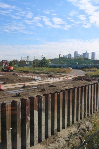「等々力水処理センター」高度処理施設建設現場