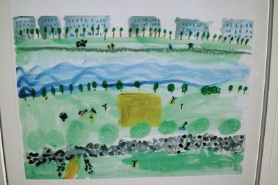多摩川を描いた絵