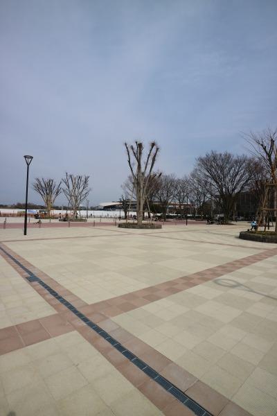 等々力緑地の正面広場