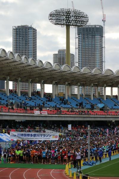 「2017川崎国際多摩川マラソン」が開催された等々力陸上競技場