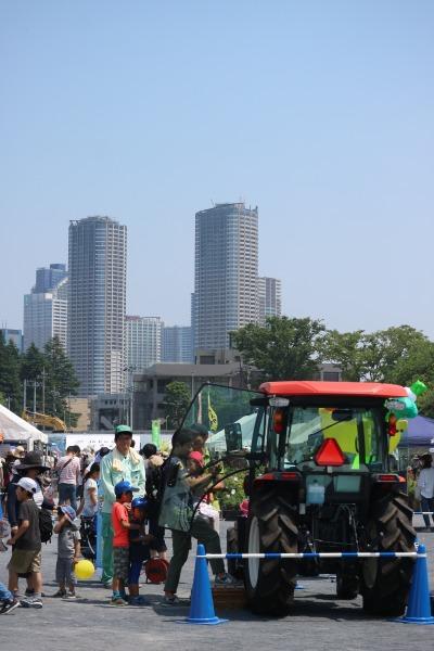 農業用車両の展示