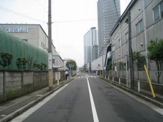 拡幅される市道新丸子東36号線