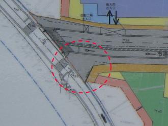 事業計画図中におけるビルの位置