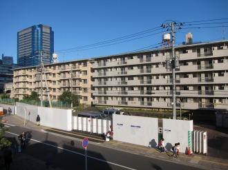 解体が始まった東京機械製作所の「新丸子社宅」