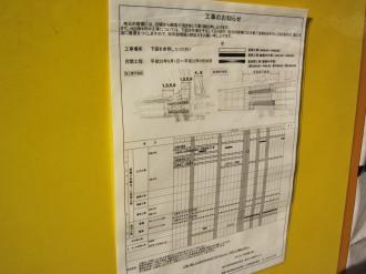 ホーム延伸工事の予定表