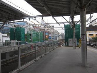 東急武蔵小杉駅のホーム延長部