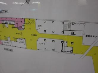 東急武蔵小杉駅ビルの工事エリア