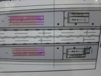 階段及びエスカレーターの設置図