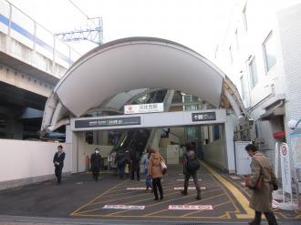東急元住吉駅のブレーメン通り商店街側入口