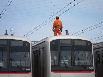 東急東横線整備中