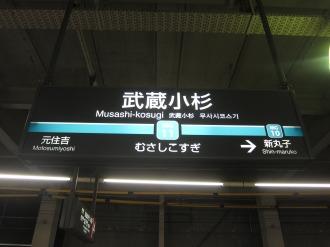 目黒線の駅名表示