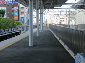 副都心線直通による武蔵小杉駅10両編成対応ホーム延伸部分