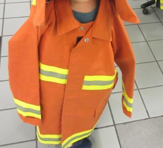 消防士さんの制服での撮影会