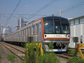 元住吉検車区の副都心線車両(10000系)