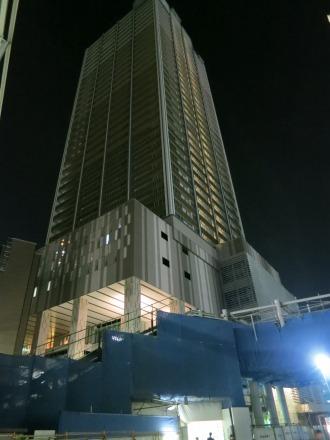 内装工事中の武蔵小杉東急スクエア・エクラスタワー武蔵小杉