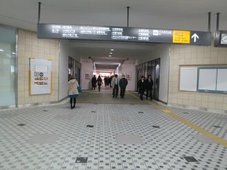 南側改札前の武蔵小杉東急スクエアの店舗区画