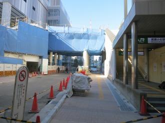 南武線武蔵小杉駅入口前のインターロッキング舗装