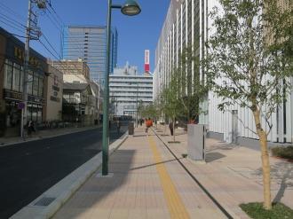 エクラスタワー武蔵小杉西側の歩道