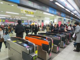 東横線渋谷駅の改札口