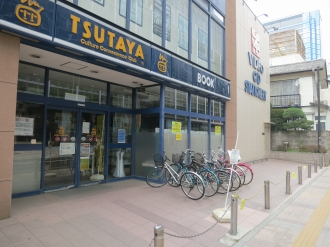 TSUTAYA小杉店の閉鎖された駐輪スペース