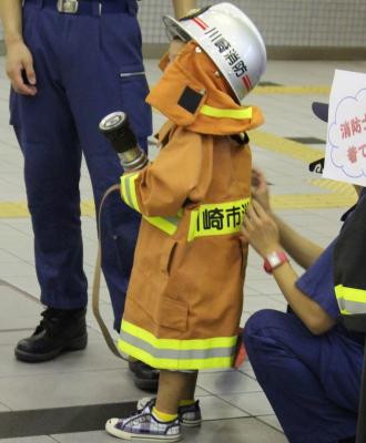 中原消防署による撮影会