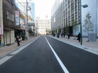 レース会場となる武蔵小杉東急スクエア前道路