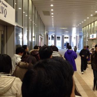 1月2日「初売り」時の行列