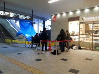 事故が発生した武蔵小杉駅のエスカレーター