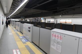 ホームドアが設置されている東横線・副都心線渋谷駅
