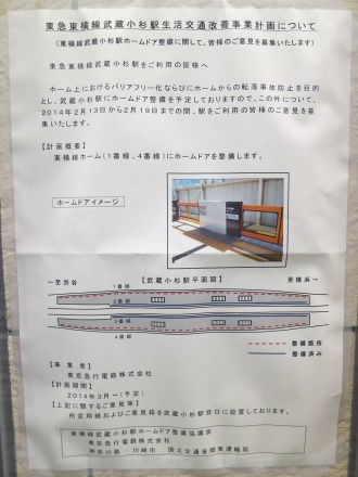「東急東横線武蔵小杉駅生活交通改善事業計画について」