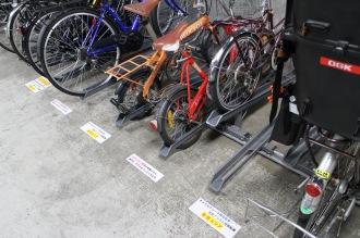 チャイルドシート付き自転車・電動アシスト付き自転車専用スペース