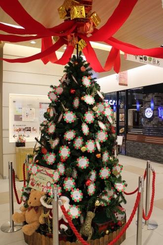 4階のクリスマスツリー