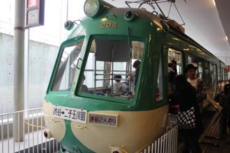 かつての路面電車「玉電」の車両