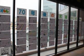 武蔵小杉東急スクエア改札口の「70年後の武蔵小杉」