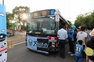 東急バス運転席で記念撮影