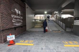 「東急武蔵小杉駅南口駐輪場」定期利用の入口
