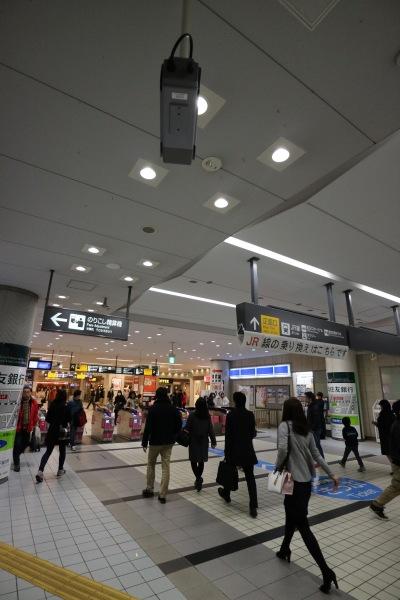 東急武蔵小杉駅の「「駅視-vision」カメラ
