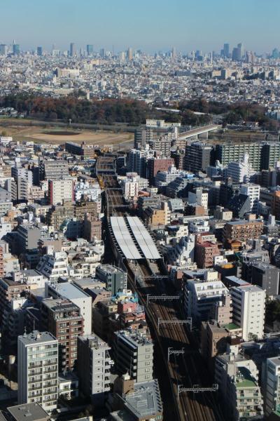 エクラスタワーから見た新丸子保線区
