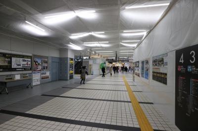 リニューアル工事が進む東急武蔵小杉駅コンコース