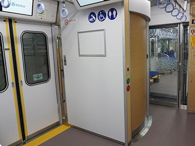 4号車に配置されるトイレ