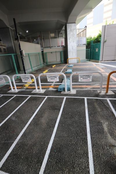 「すこやか小杉保育園」の利用者専用駐輪場