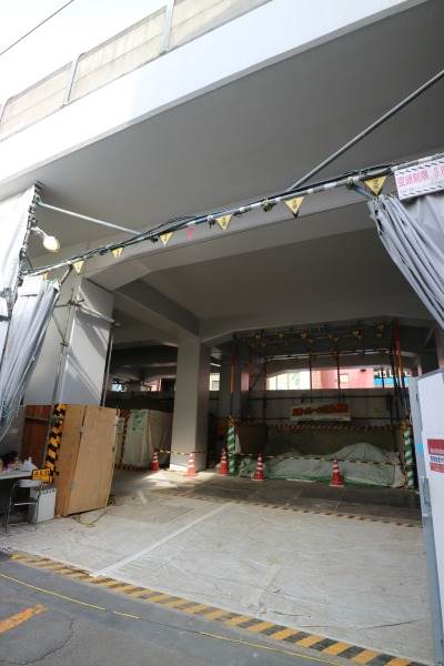 高架線の工事