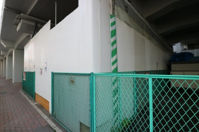 店舗建設区画の南端