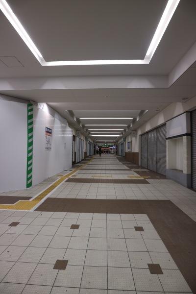 東急高架下の閉店区画
