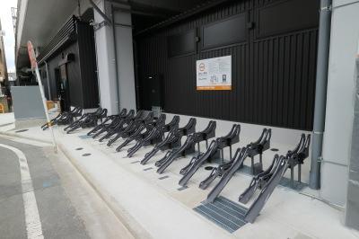 グルメストリート裏手に新設された駐輪場