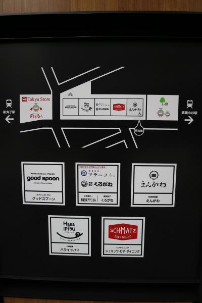 5店舗のマップ