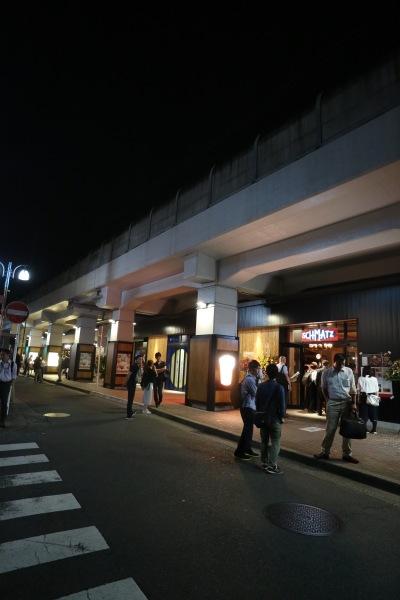 東急線武蔵小杉駅~新丸子駅間高架下の商業施設